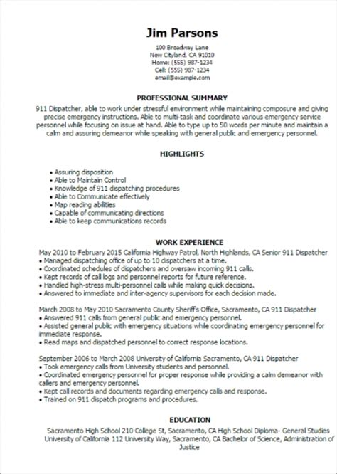 Sample Resume For Trucking Dispatcher Monthswhycf